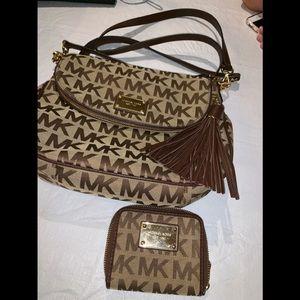 Michael Kors wallet and satchel combo